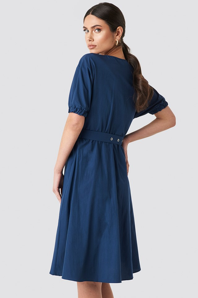 Wos Belt Detailed Dress Indigo