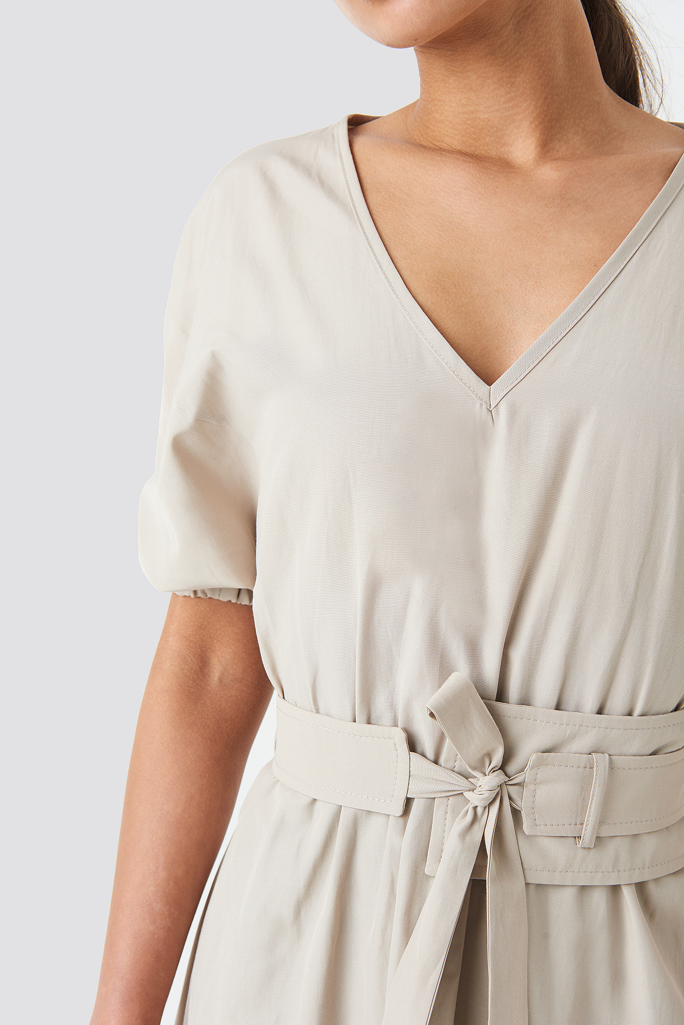 Wos Belt Detailed Dress NA-KD.COM