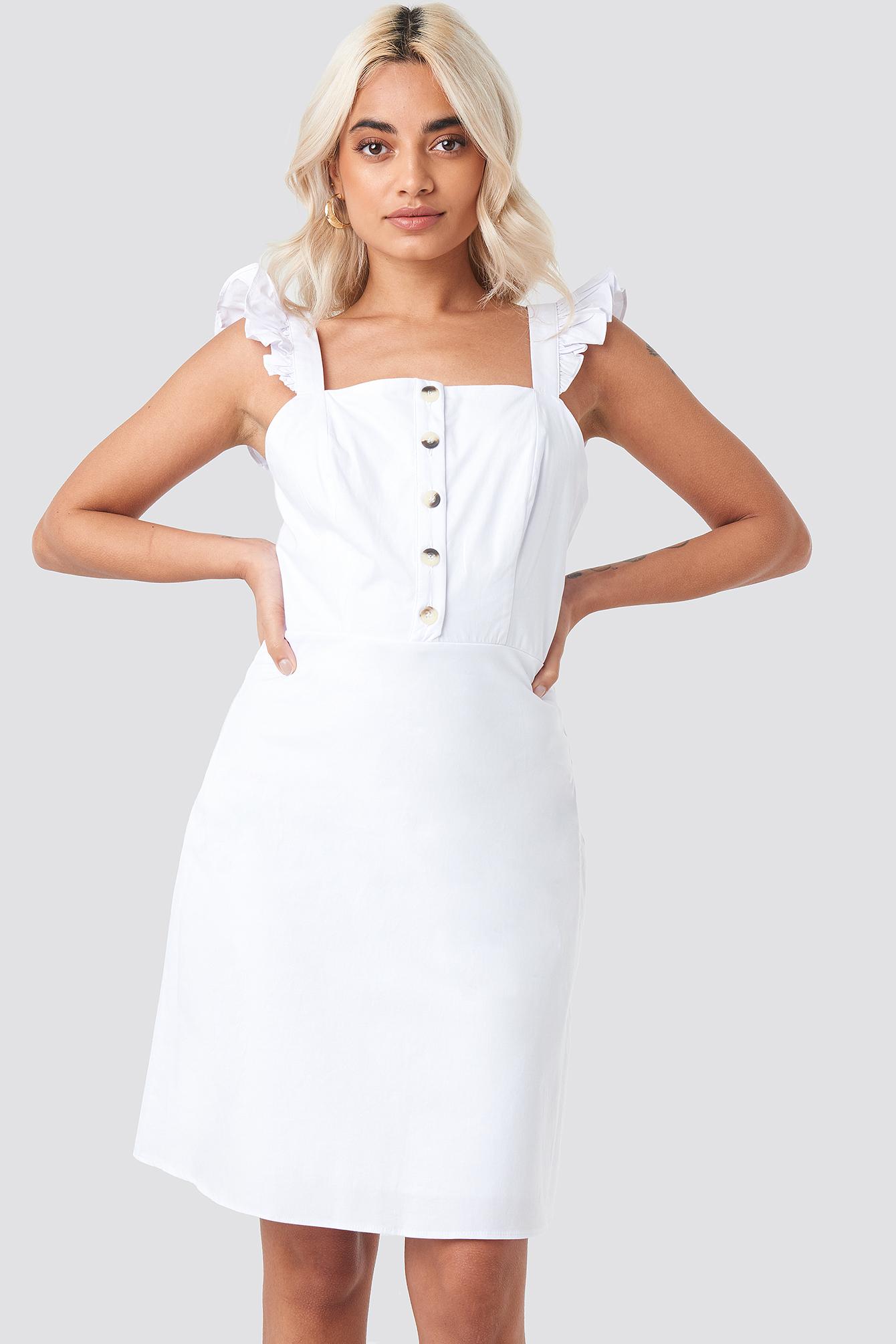 Wos Button Detailed Dress NA-KD.COM
