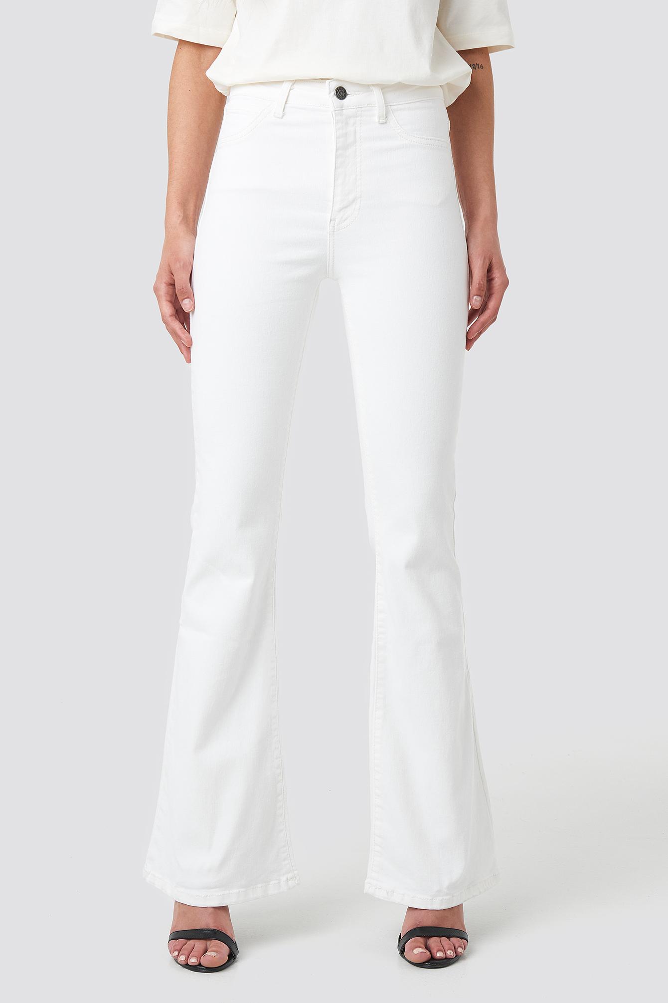 Wos High Waist Flare Jeans NA-KD.COM