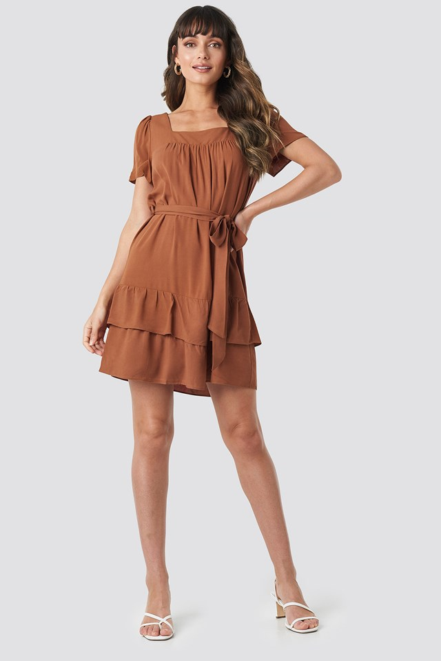 Wos Mini Dress Brick