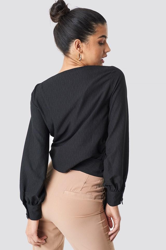 Wrap Around Blouse Black