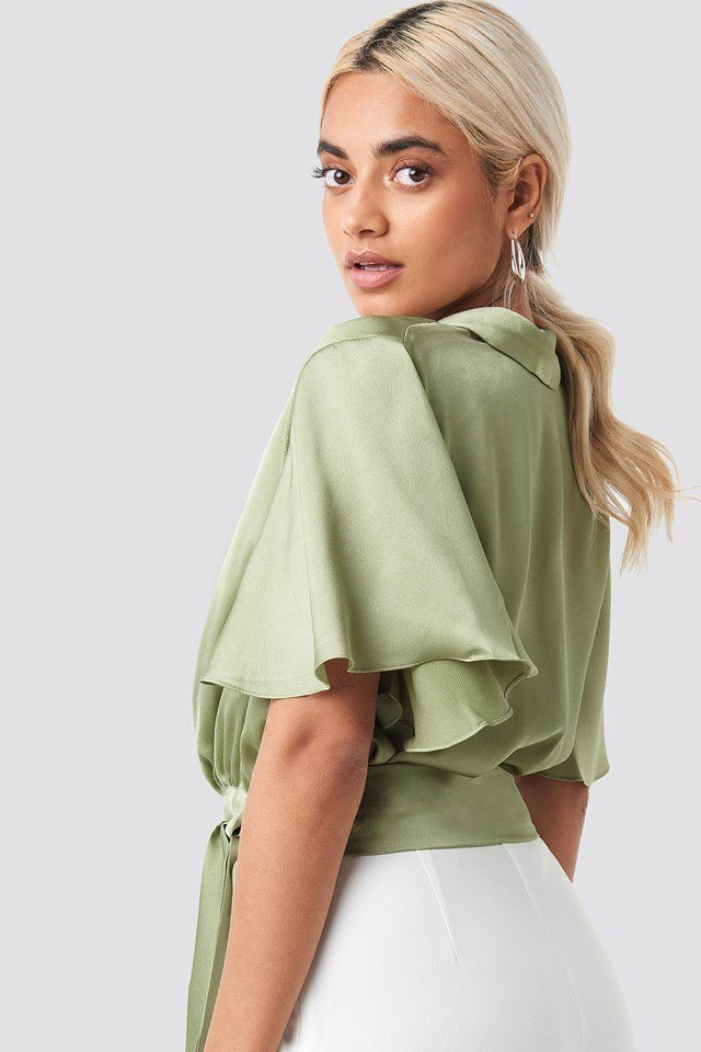 Wrap Around Detailed Top Mint