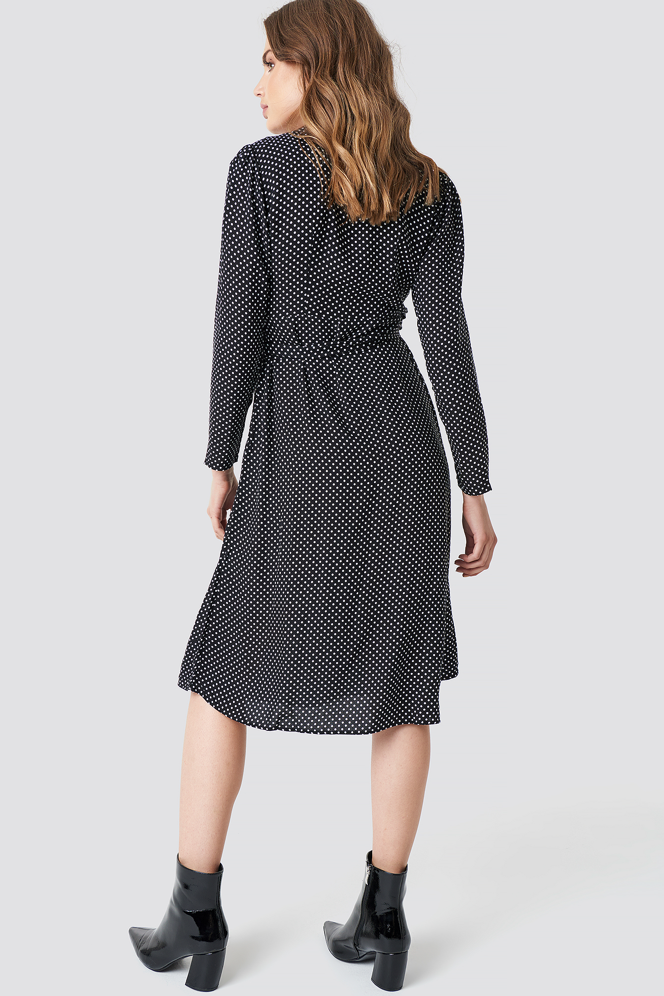 Wrap Around Dotted Dress NA-KD.COM