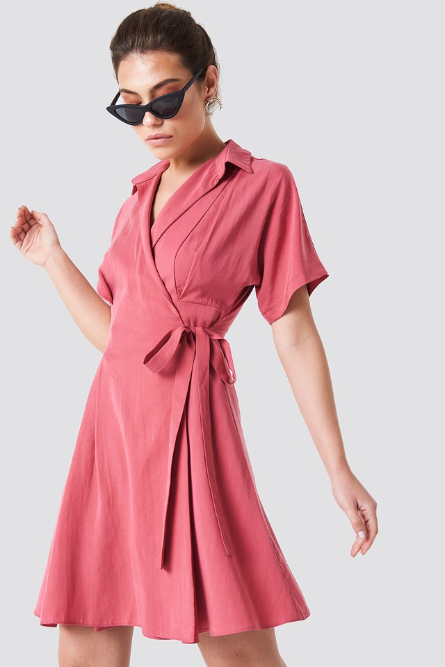 Wrap Around Midi Dress Trendyol