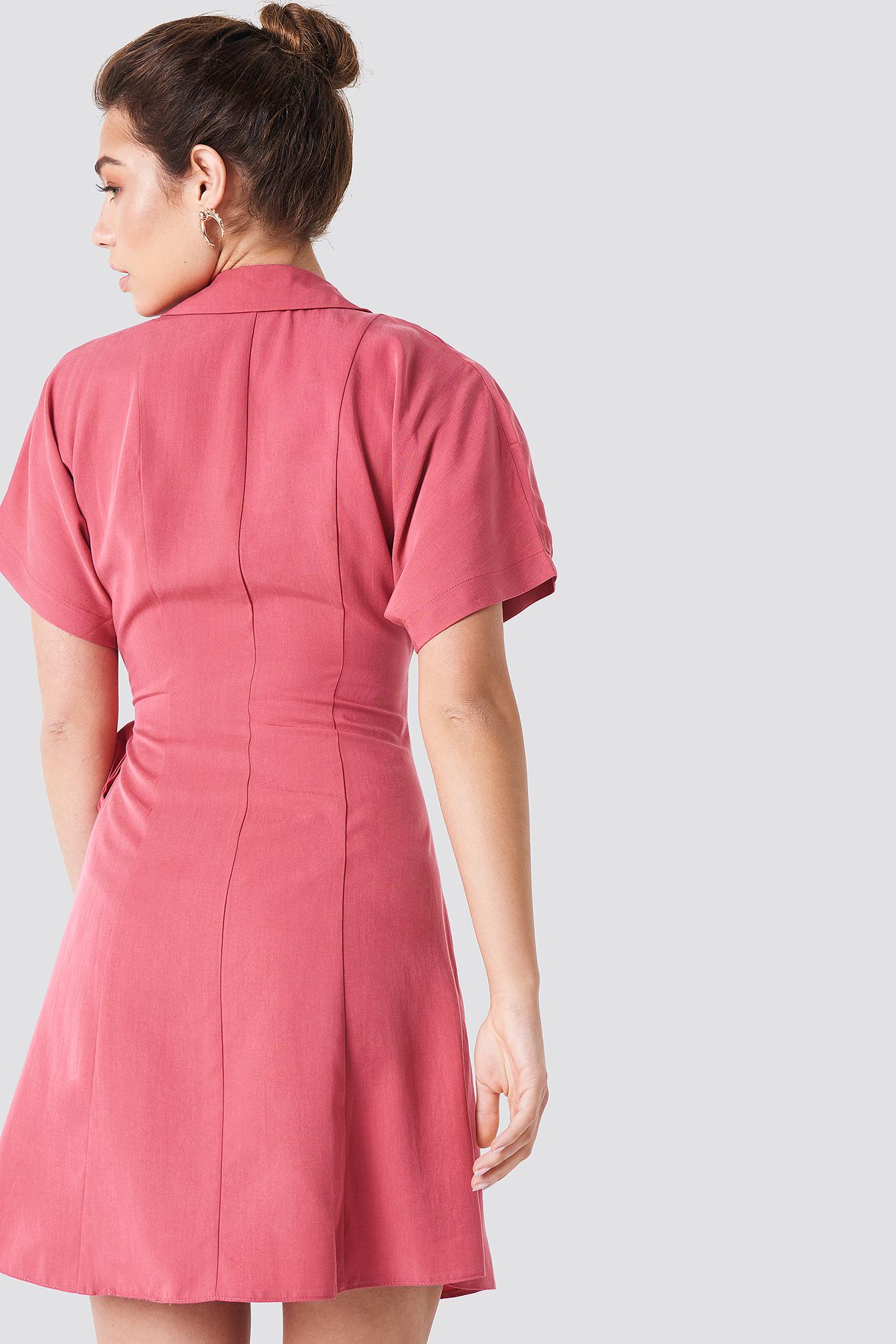 Wrap Around Midi Dress NA-KD.COM