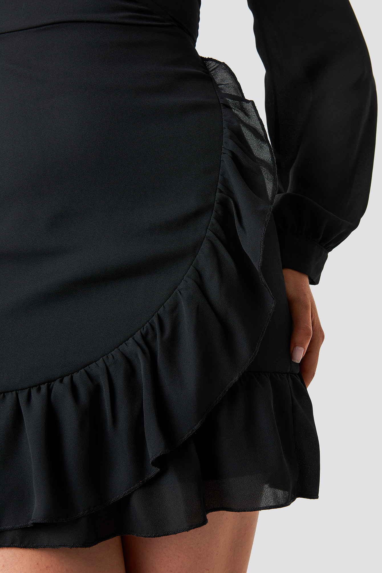 Wrap Around Ruffle Dress NA-KD.COM