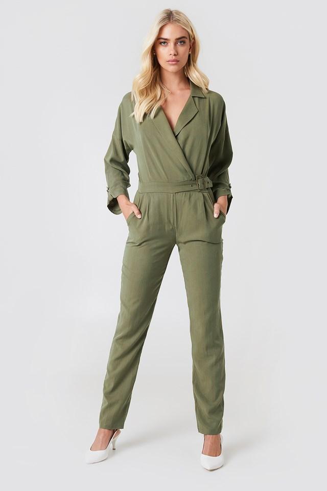 Wrap Belted Jumpsuit NA-KD.COM