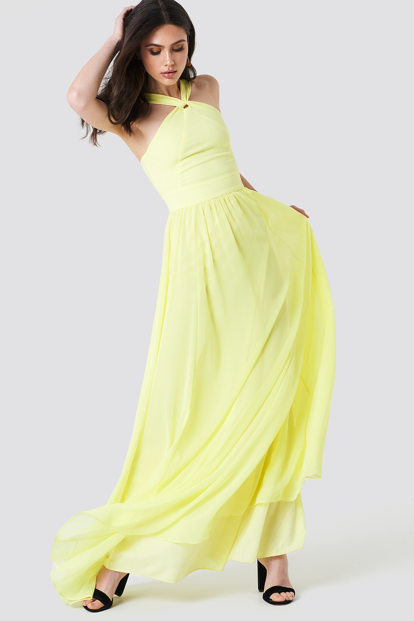 Wrapped Halter Maxi Dress NA-KD.COM