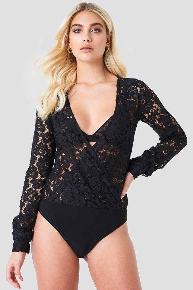 Wrapped Lace Body Black