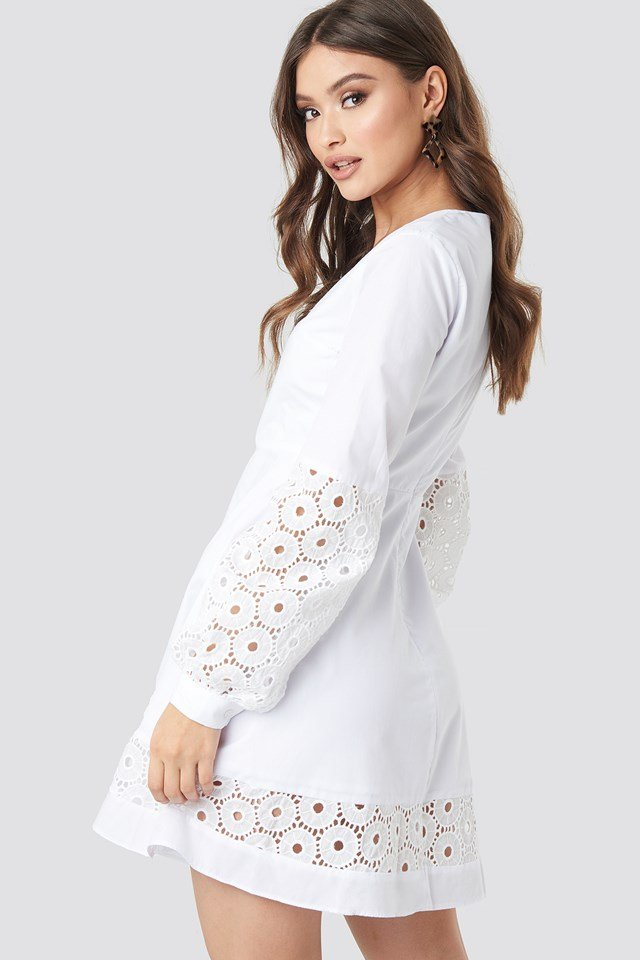 Yol Embroidered Dress White