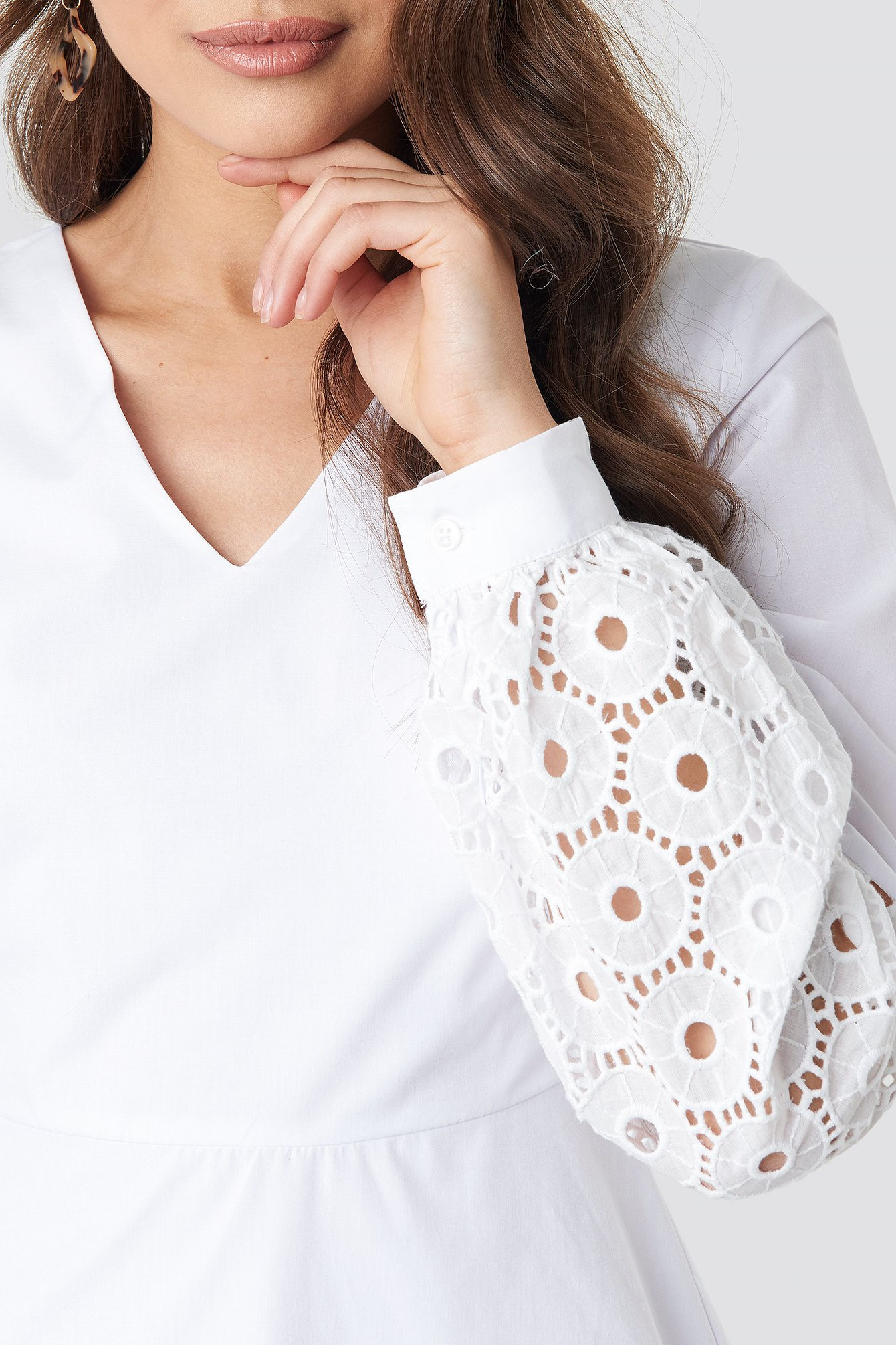 Yol Embroidered Dress NA-KD.COM