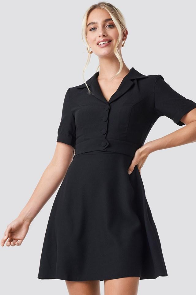 Yol Belt Detailed Dress Black