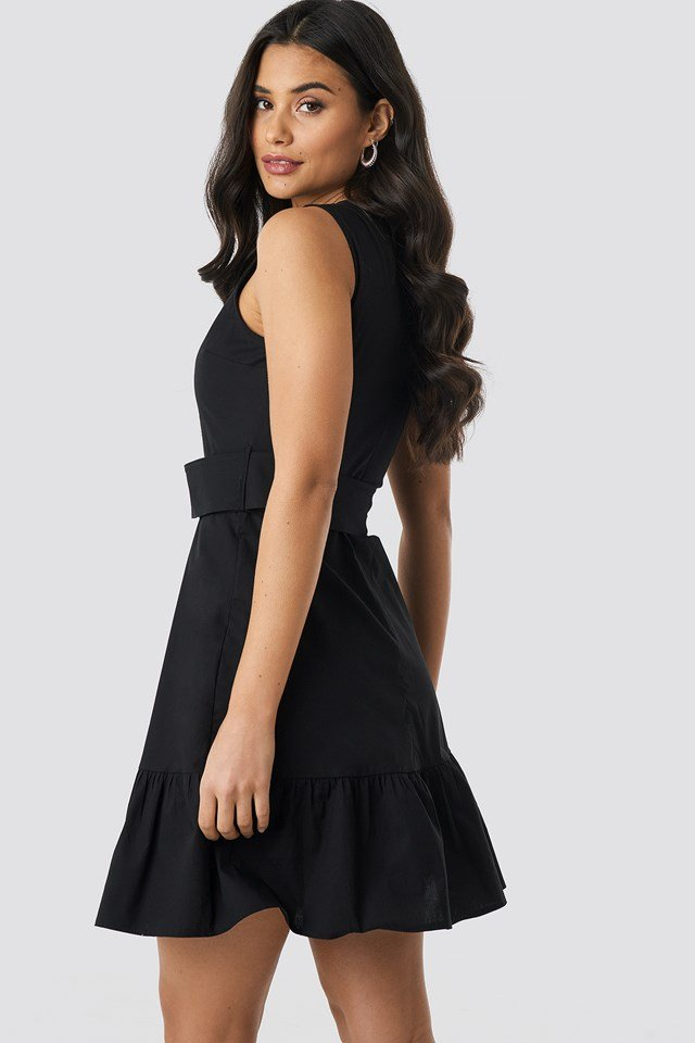Yol Belt Mini Dress Black