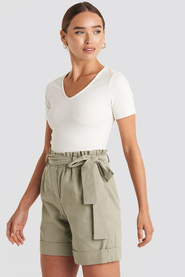 Yol Belted Shorts Stone