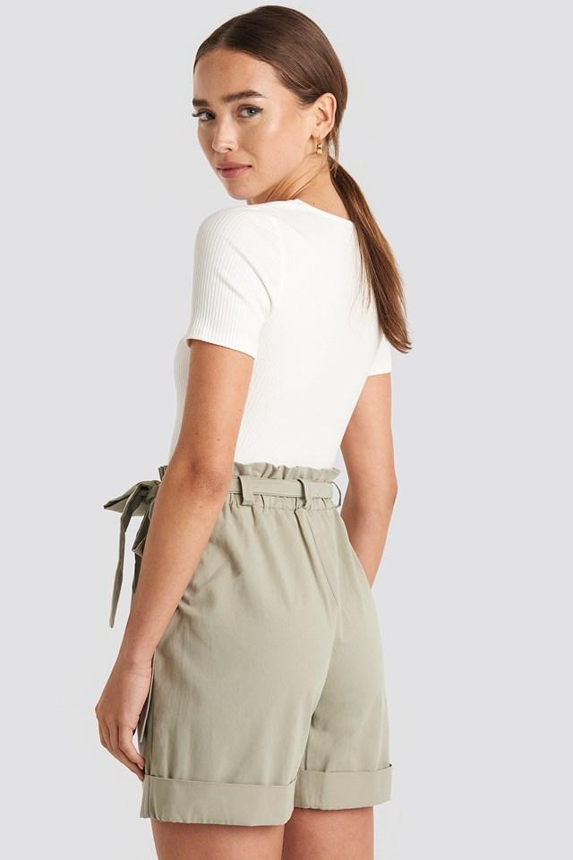 Yol Belted Shorts Stone