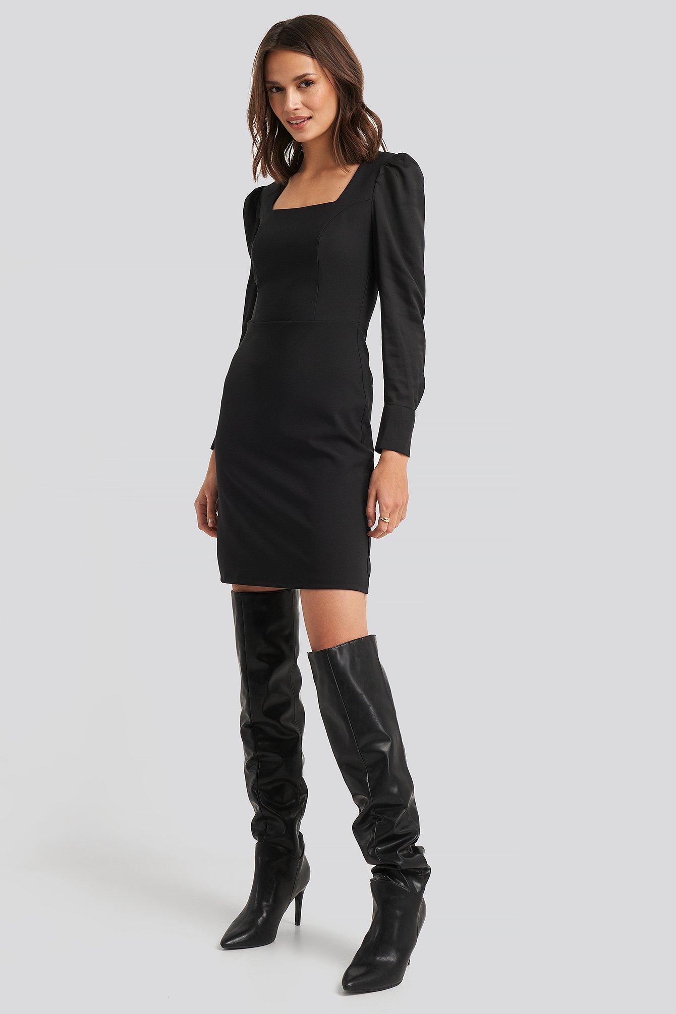 trendyol -  Yol Classic Mini Dress - Black