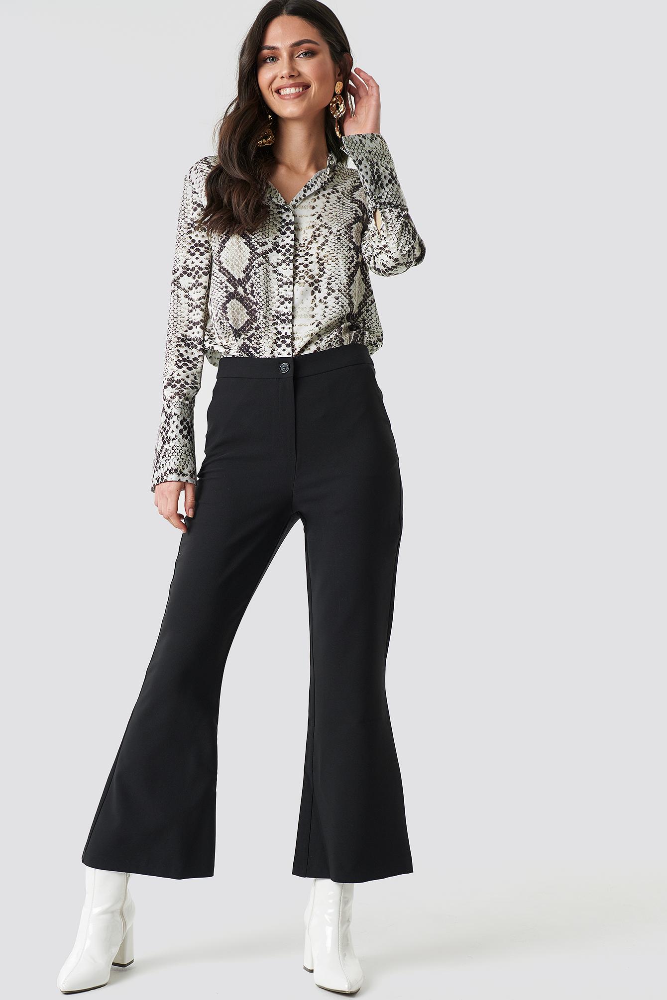 trendyol -  Yol Culotte Pants - Black