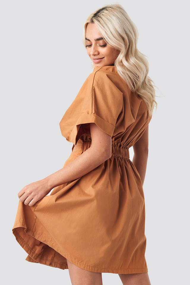 Yol Double Breasted Dress Camel