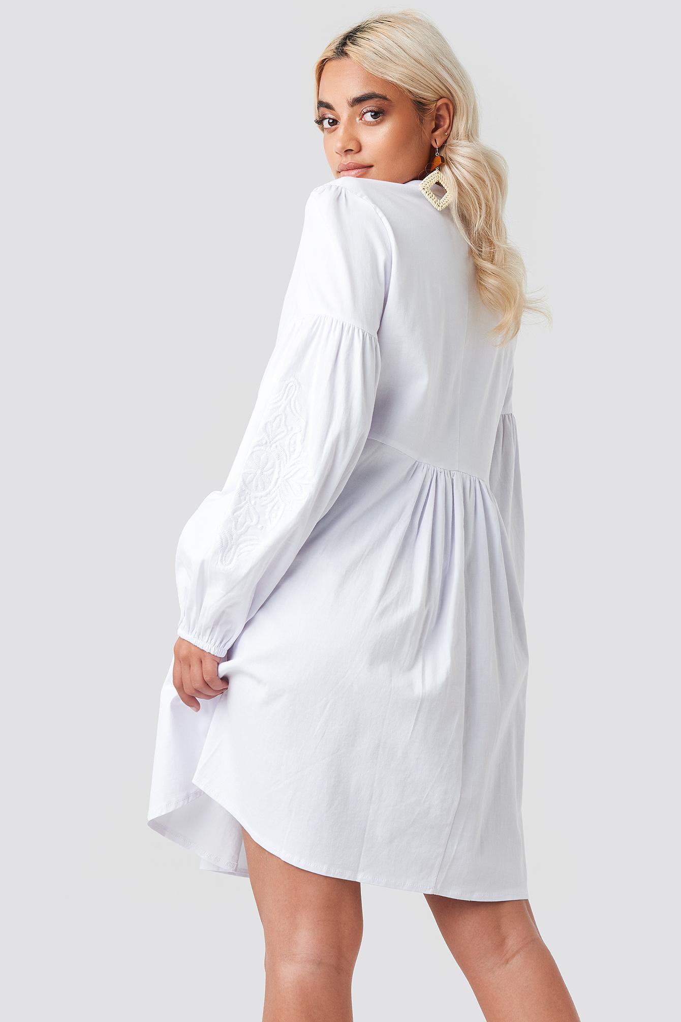 Yol Embroidered Mini Dress NA-KD.COM