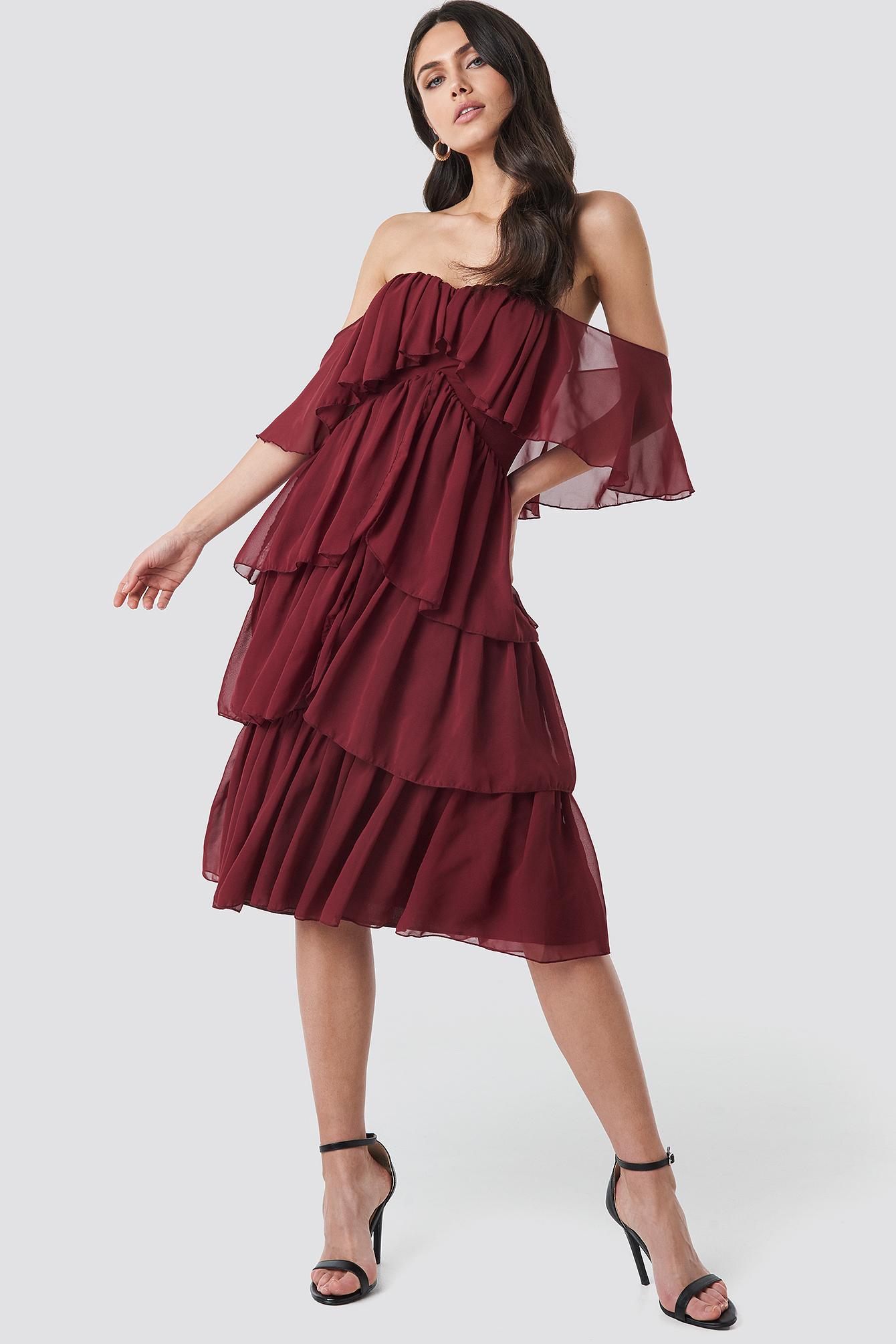 Yol Flywheel Midi Dress NA-KD.COM
