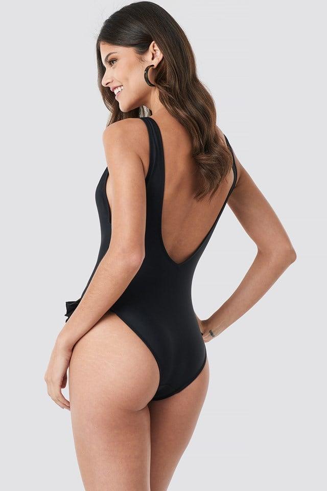 Yol Frill Swimsuit Black