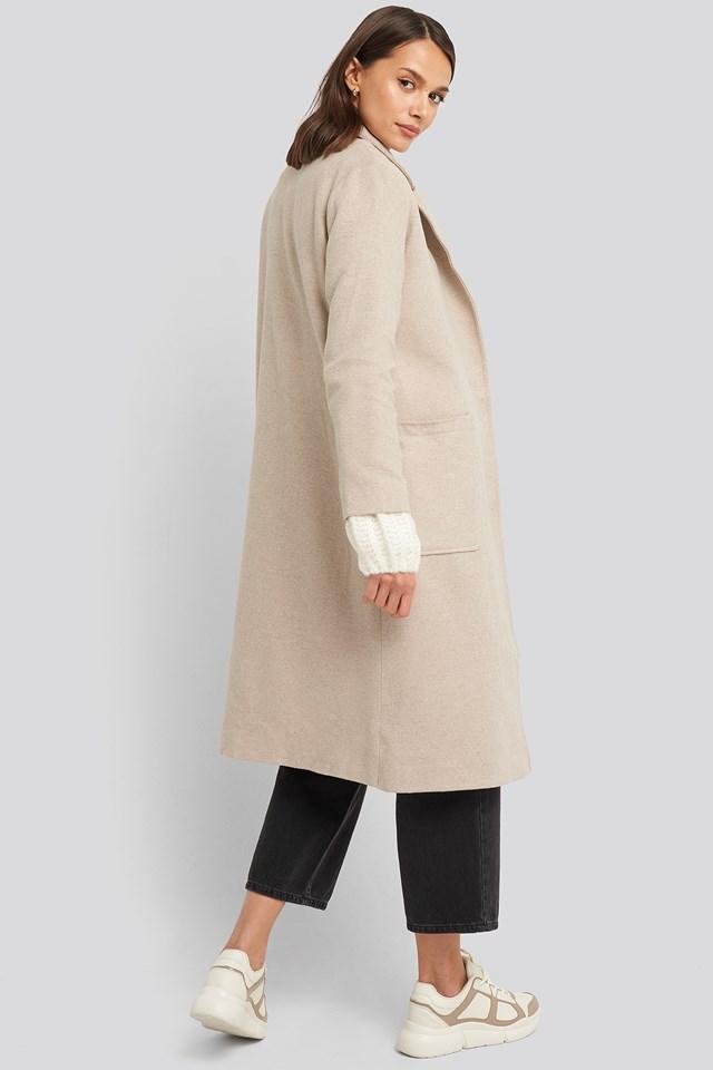 Yol Front Coat Stone