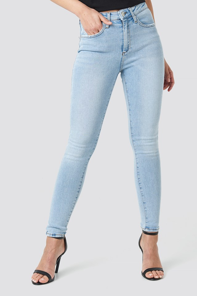 Yol High Waist Skinny Jeans Blue