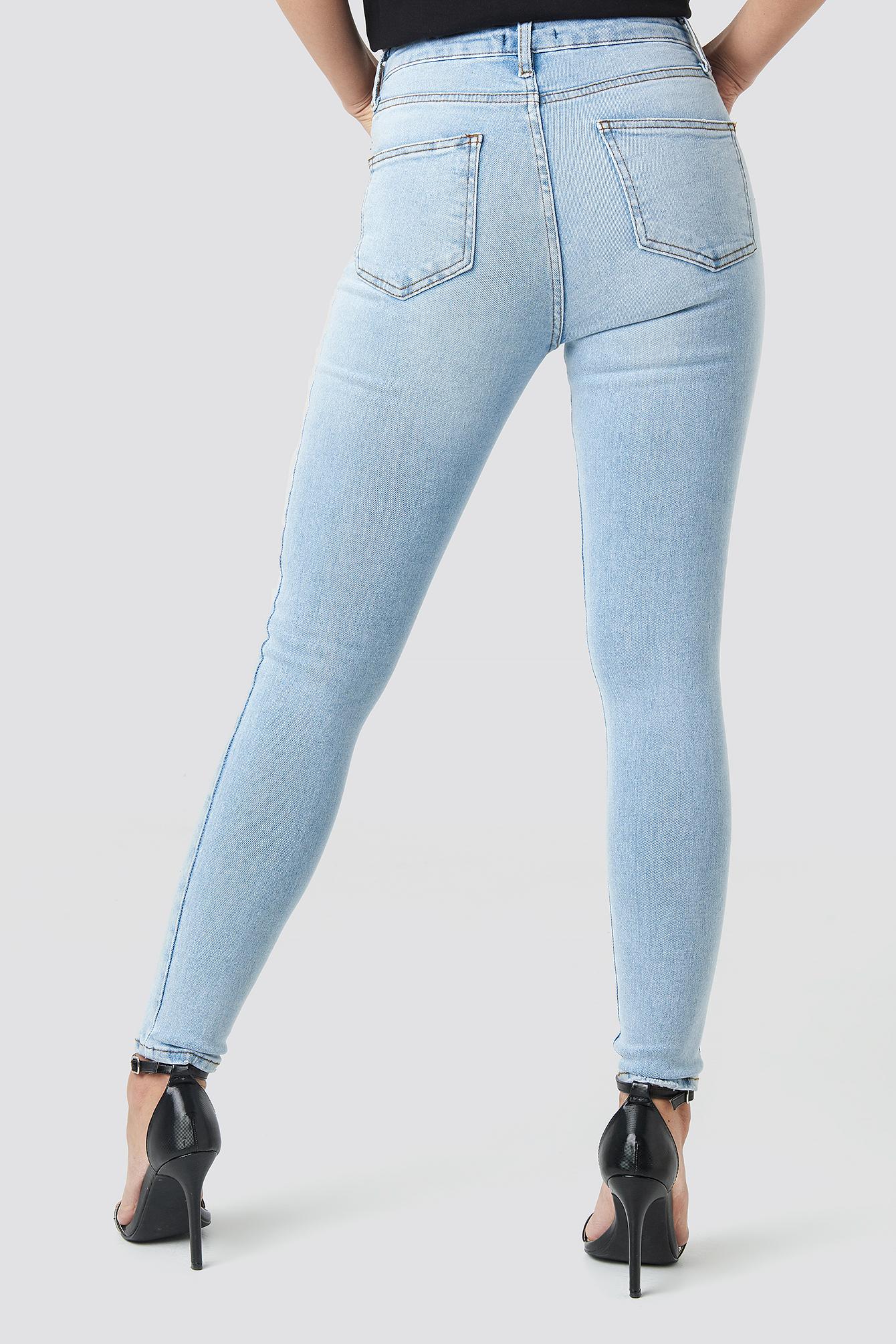 Yol High Waist Skinny Jeans NA-KD.COM