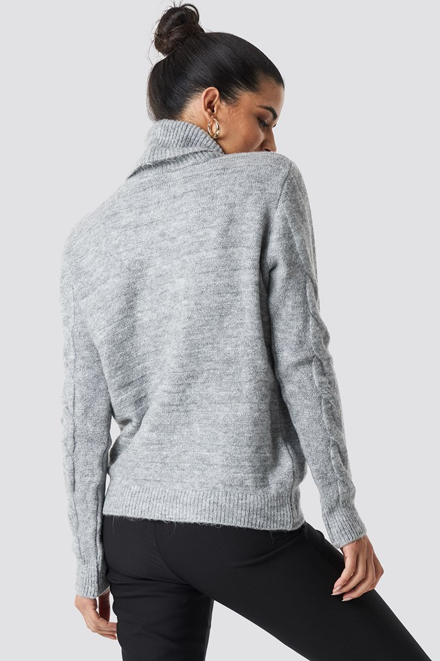 Yol Knitted Polo Jumper Gray