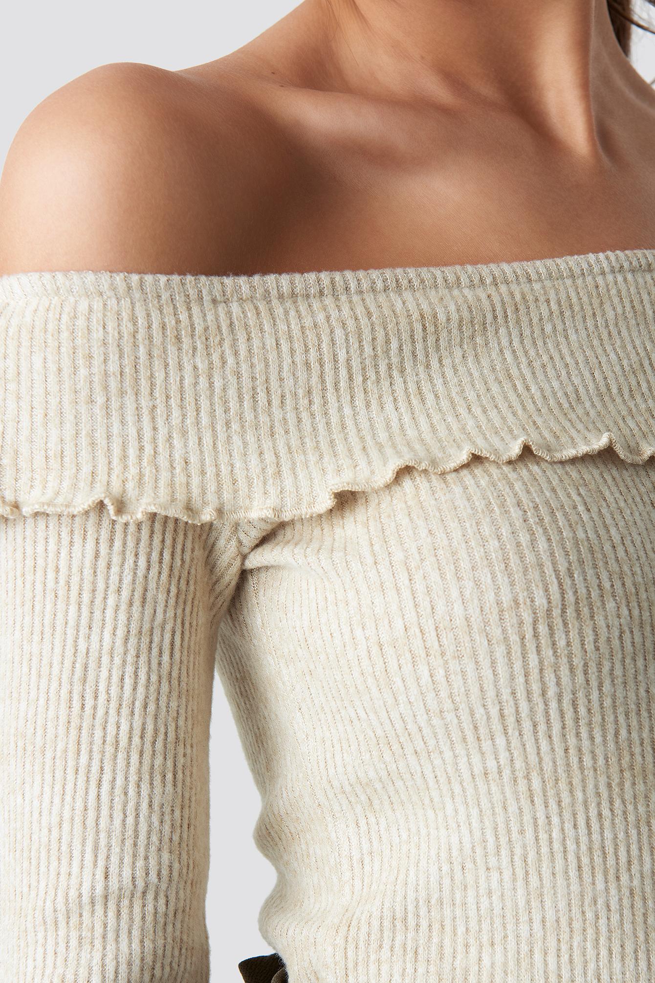 Yol Off Shoulder Knitted Jumper NA-KD.COM