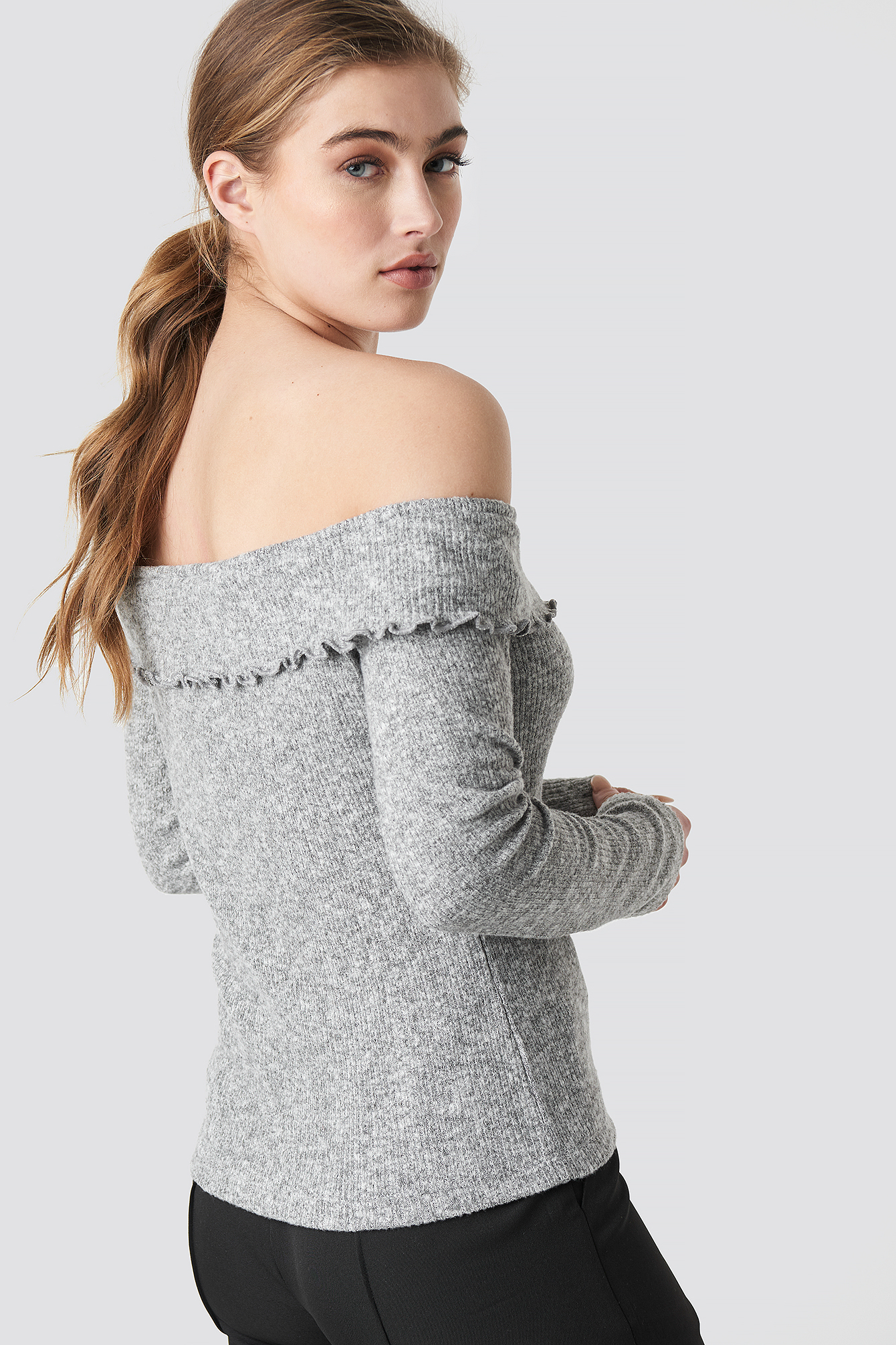 Yol Off Shoulder Knitted Jumper NA-KD.COM