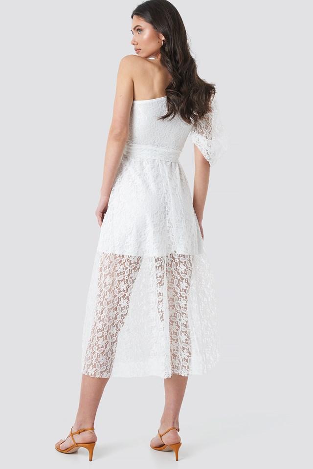 Yol One Shoulder Dress Ecru