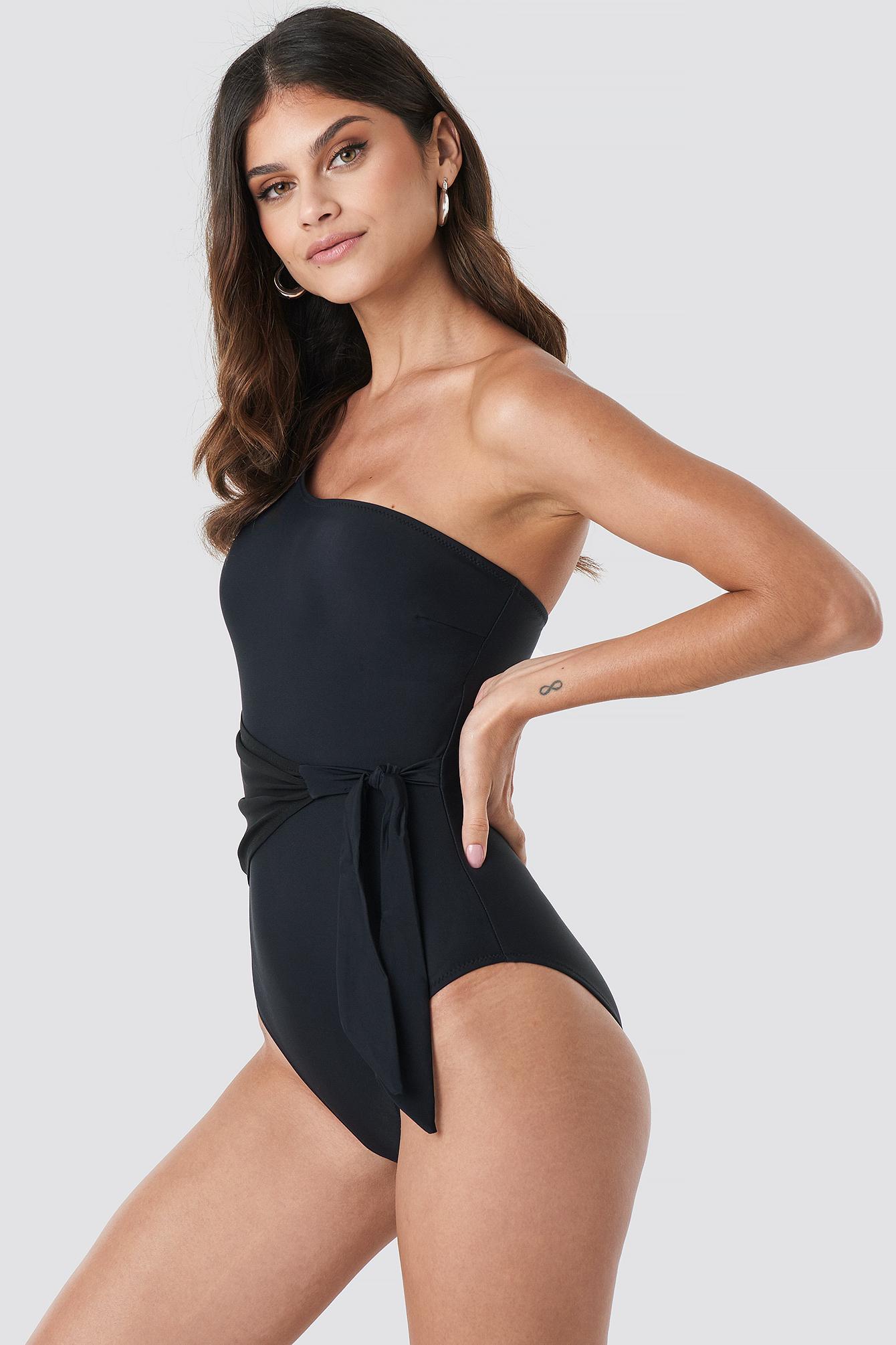 Yol One Shoulder Swimsuit NA-KD.COM