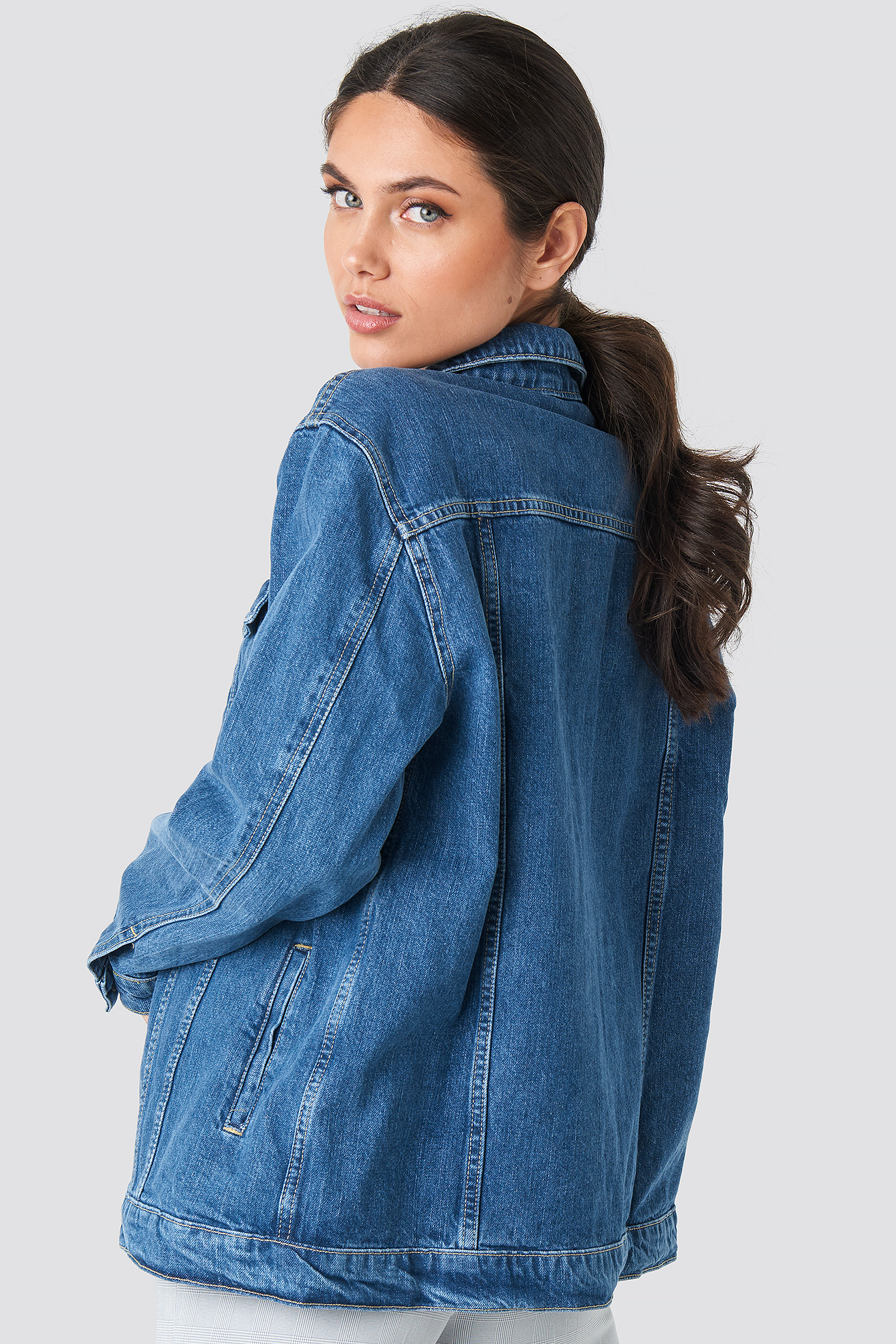 Yol Oversized Denim Jacket NA-KD.COM