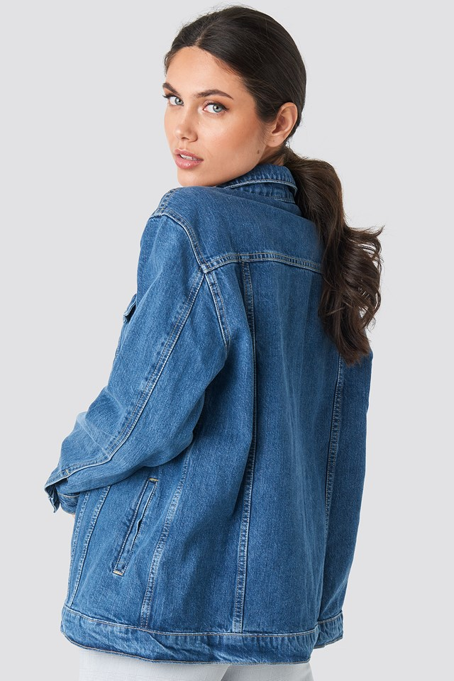 Yol Oversized Denim Jacket Blue