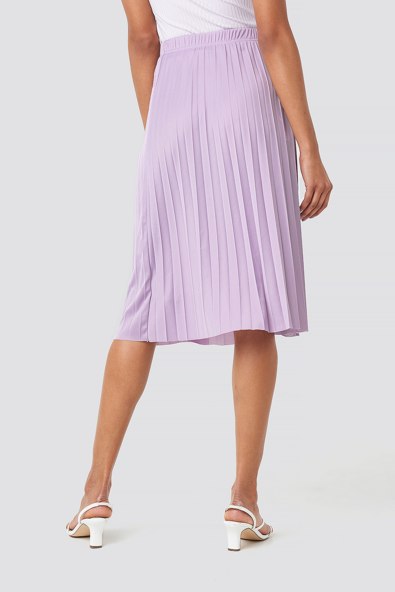 Yol Pleated Midi Skirt NA-KD.COM
