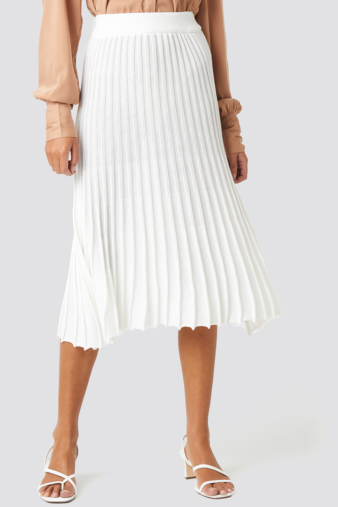Yol Pleated Midi Skirt NA-KD.COM