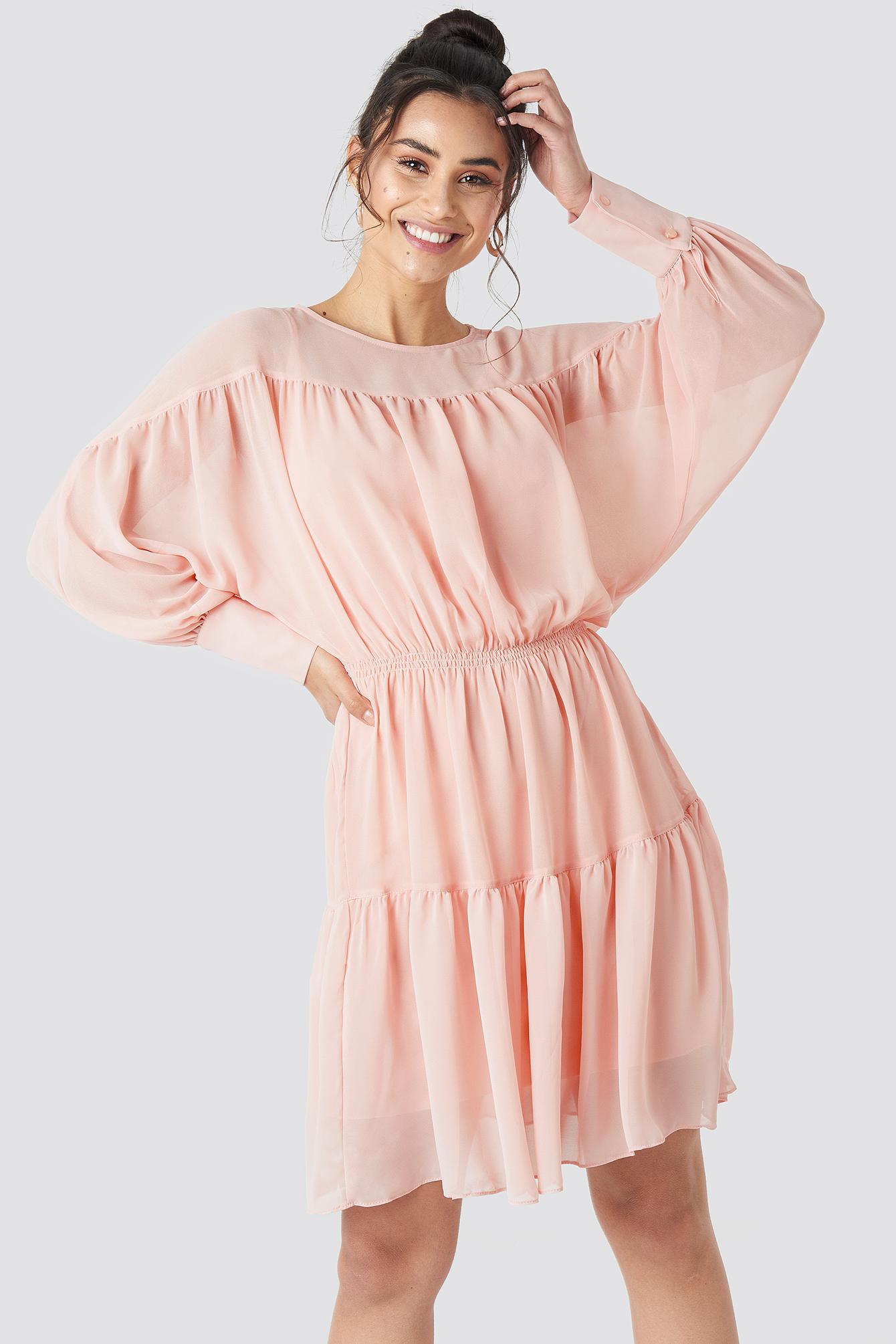 Yol Pleated Mini Dress NA-KD.COM