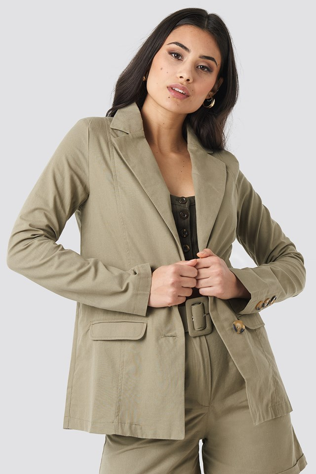 Yol Pocket Detailed Jacket Khaki