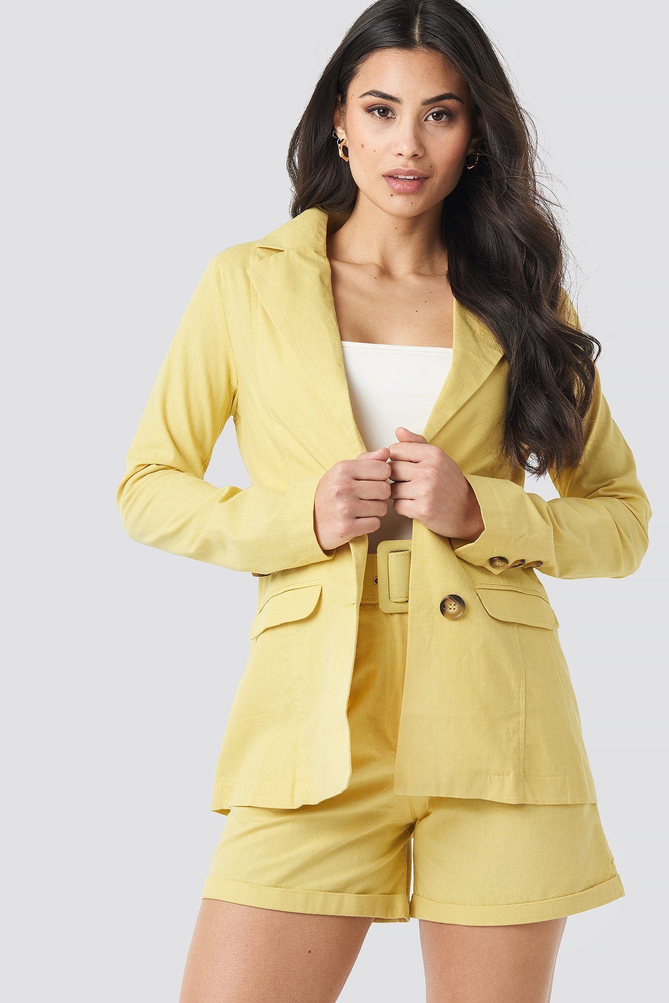 trendyol -  Yol Pocket Detailed Jacket - Yellow