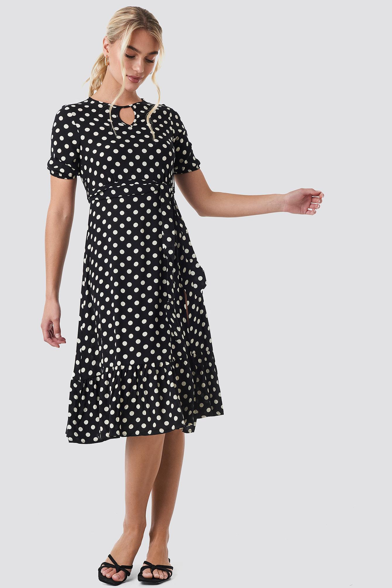 Yol Polka Dot Midi Dress NA-KD.COM