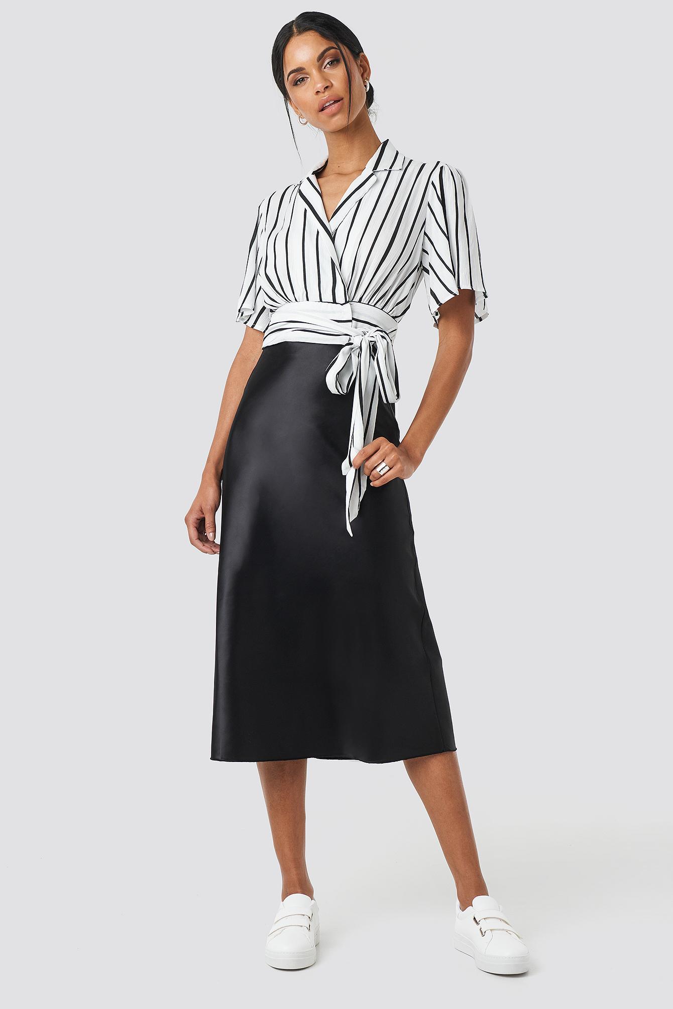Yol Satin Skirt NA-KD.COM