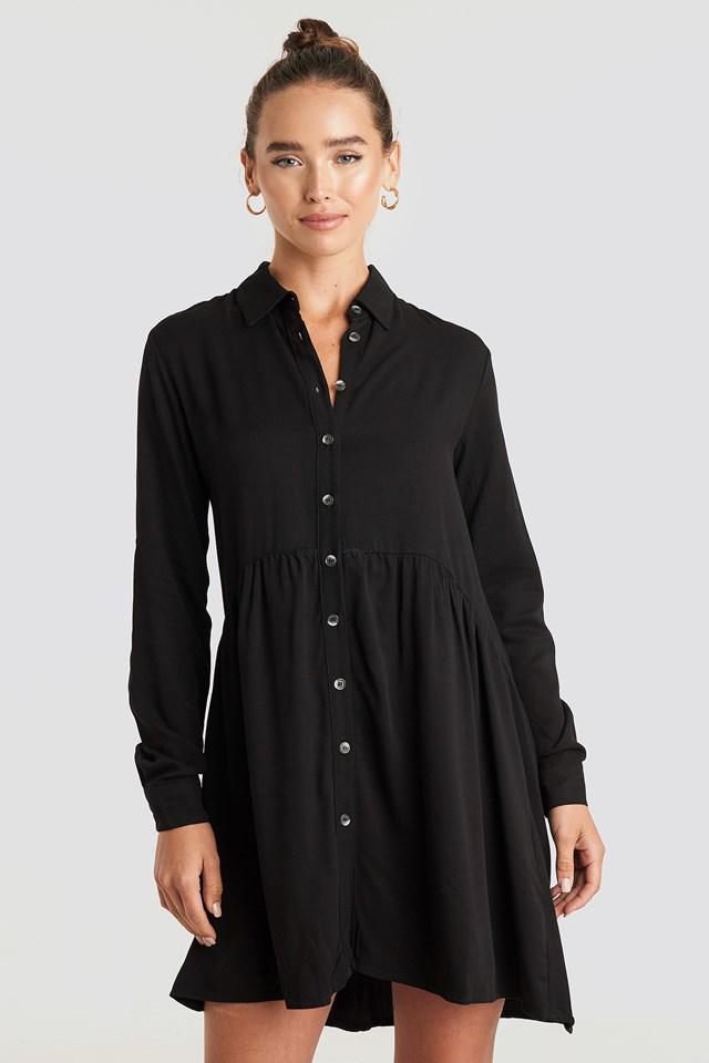 Yol Shirt Dress Black