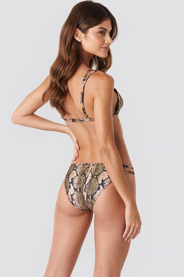 Yol Snake Bikini Bottom Multicolor