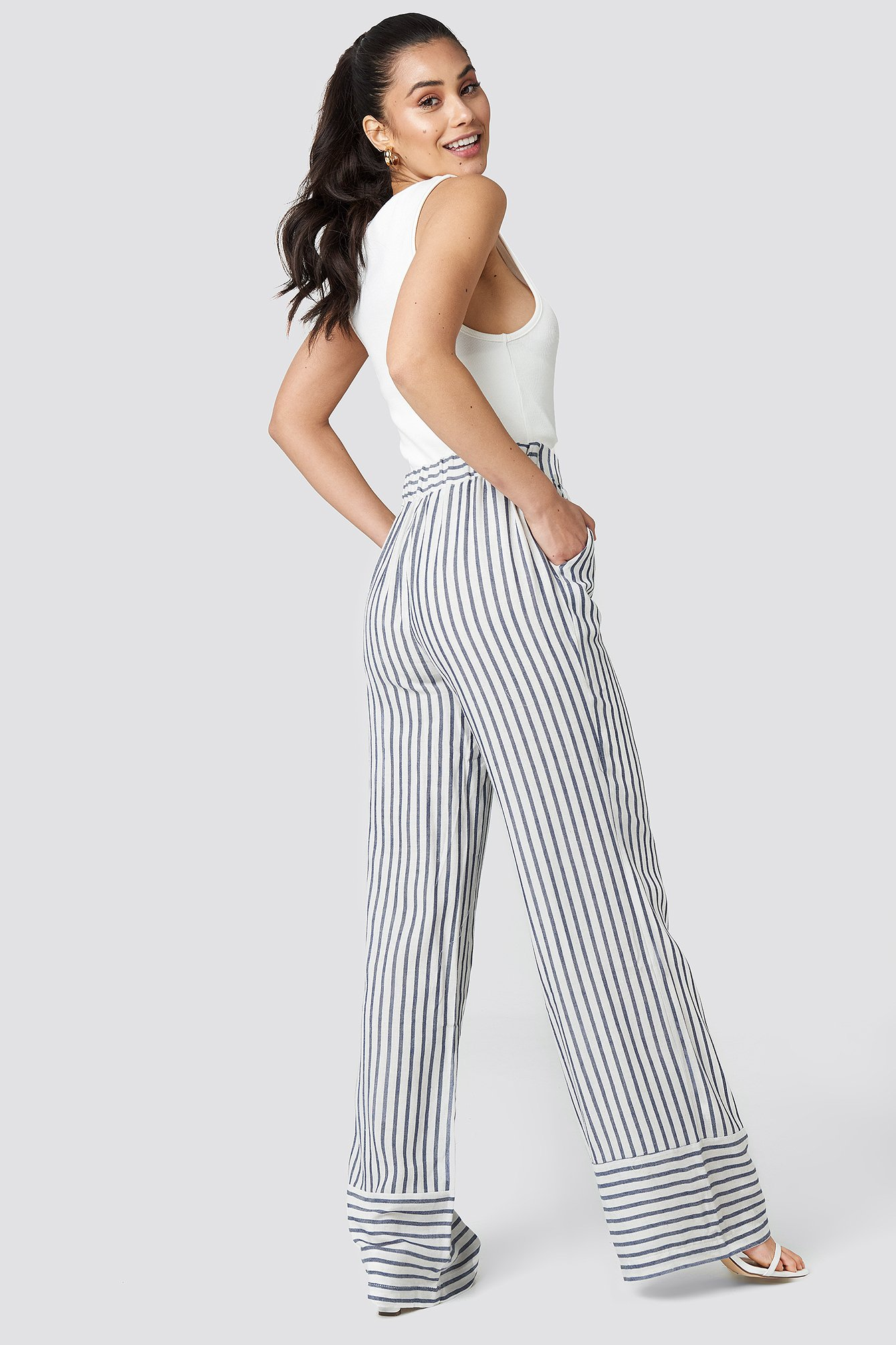 Yol Stripe Wide Pants NA-KD.COM