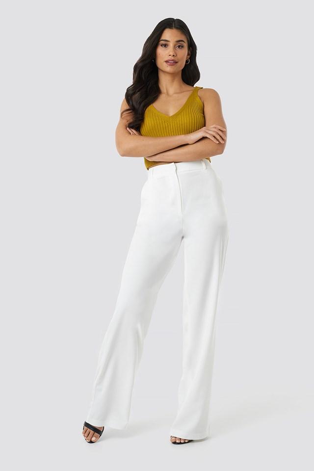 Yol Wide Pants White