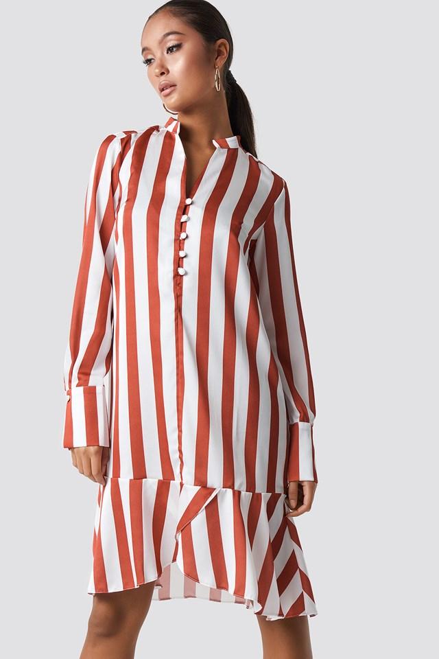 Strip Frill Detail Dress NA-KD.COM