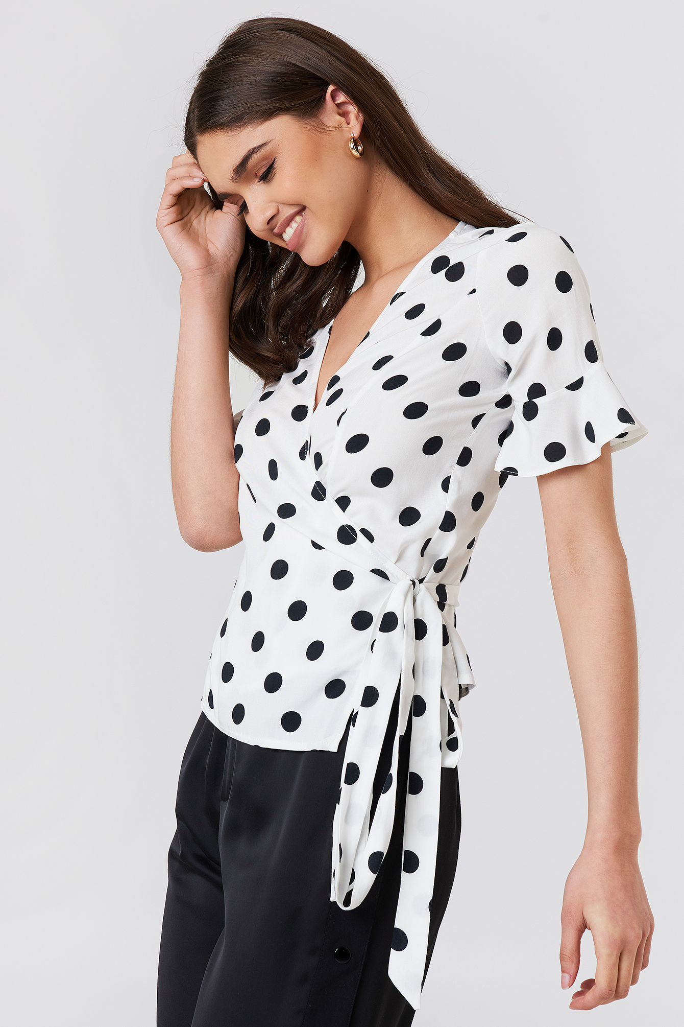 Waistband Dot Blouse NA-KD.COM