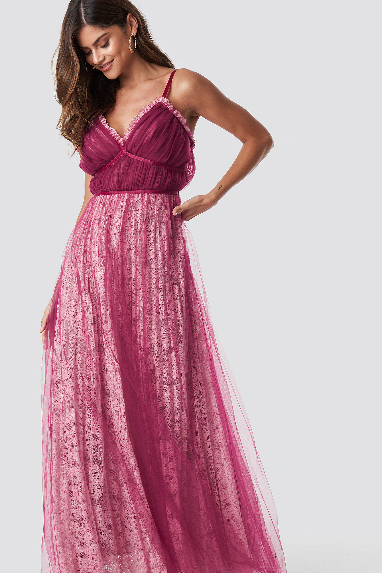 Pleated Maxi Dress NA-KD.COM